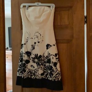 Strapless Ann Taylor dress.